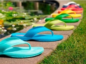 American-made flip flops